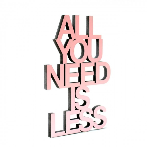 All you need... silber 3D Typographie