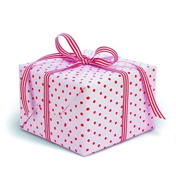 KRIMA Geschenkpapier Tupfer Rosa
