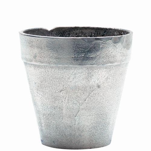 Aluminium Silber Übertopf