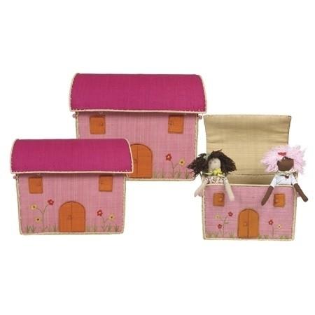 Landhauskorb Pink medium