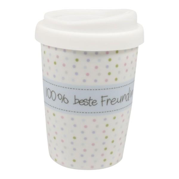 Coffee to go Becher 100% beste Freundin
