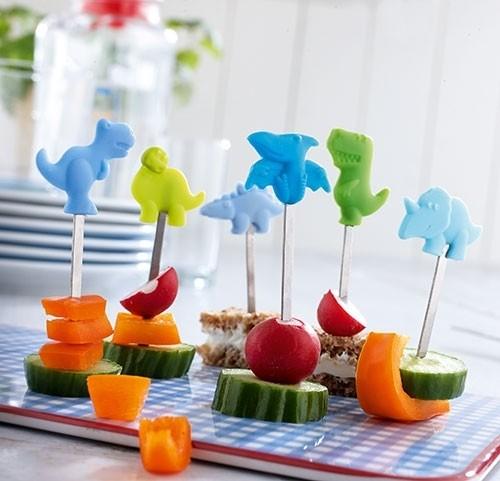 Snack-Spieße Dinoparade