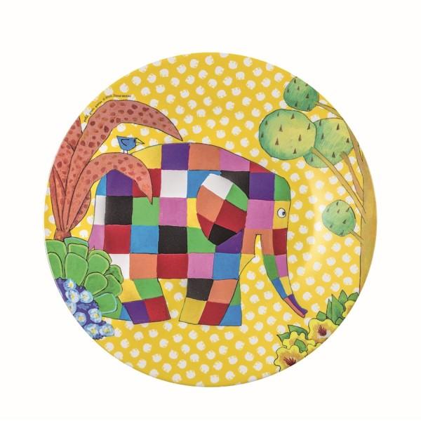 Melamin-Dessertteller gelb Elmer