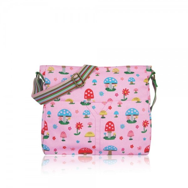 Handtasche Cross Over Pilze pink