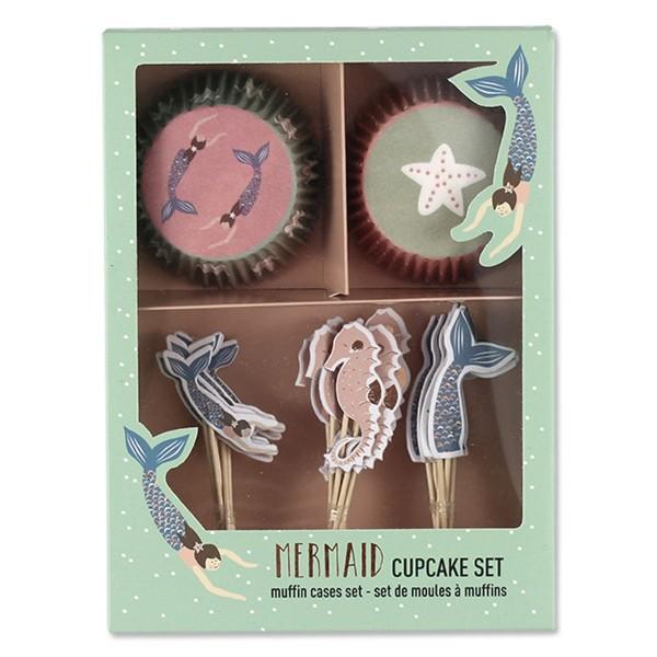Cupcake-Set Meerjungfrau