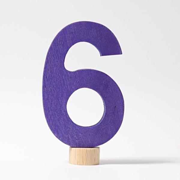Zahlenstecker 6