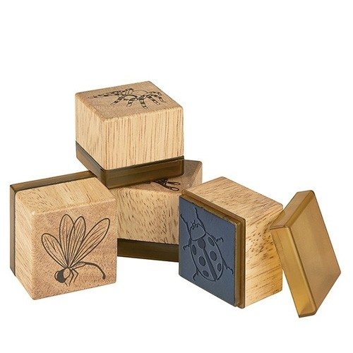 Holzstempel Insekten