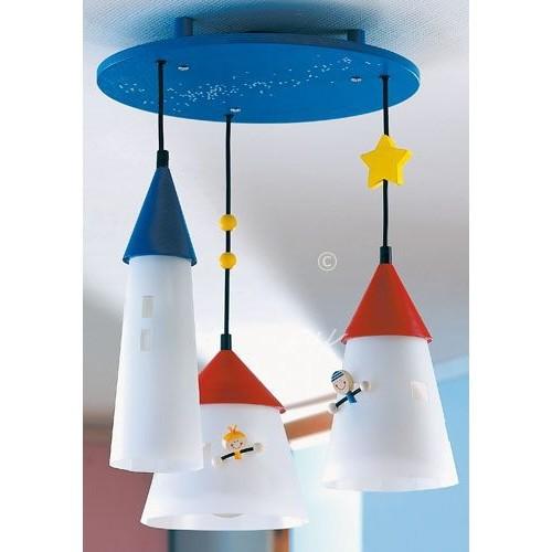 Deckenlampe Laternenstädtchen