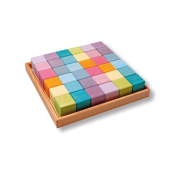 36 Würfel pastell