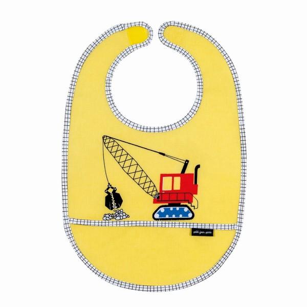 Lätzchen gelb Baufahrzeug