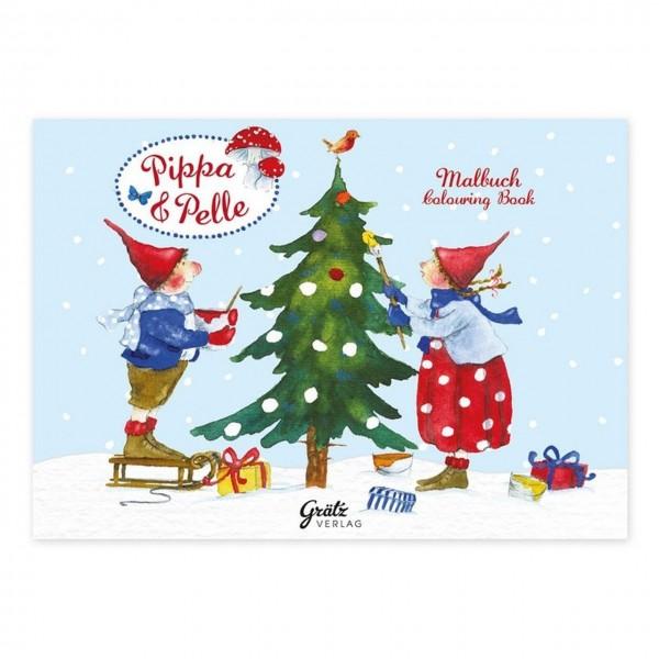 Mini Weihnachtsmalbuch Weihnachten mit Pippa & Pelle A7