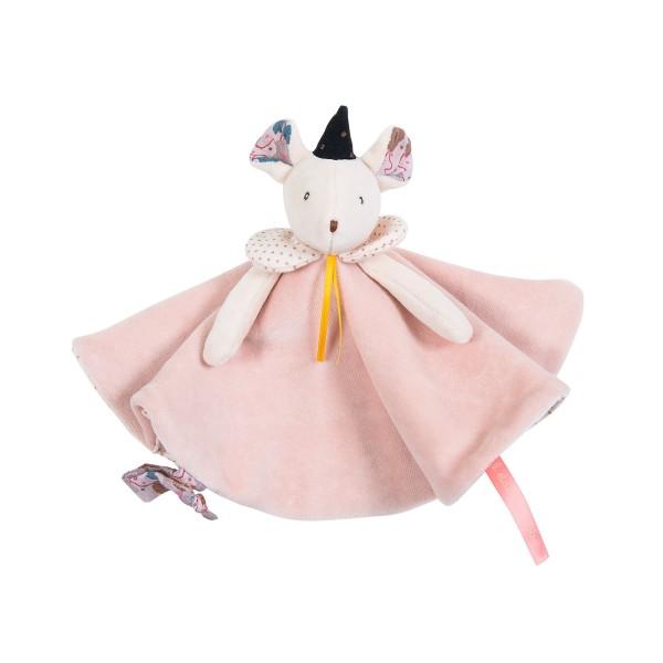 Schmusetuch rosa Maus