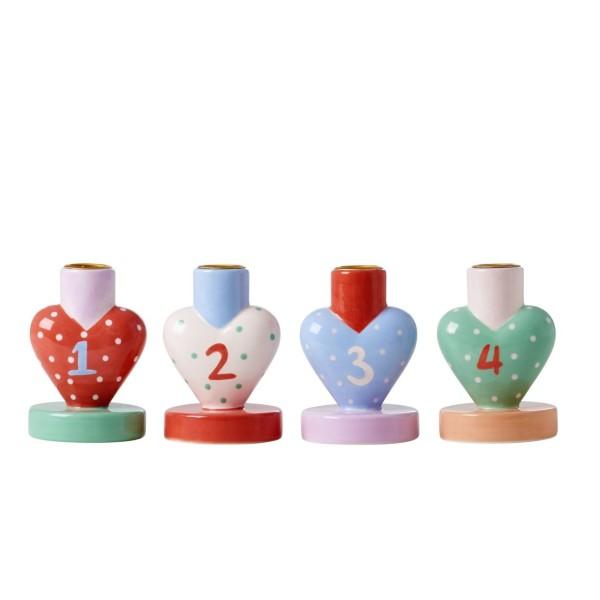 Kerzenständer Herz 4er Set