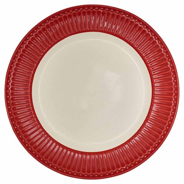 Dinnerteller Alice, rot