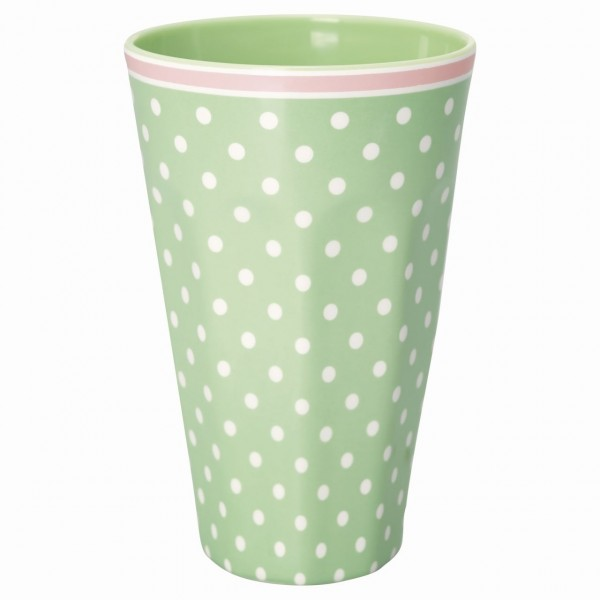Melamin Becher Spot pale green