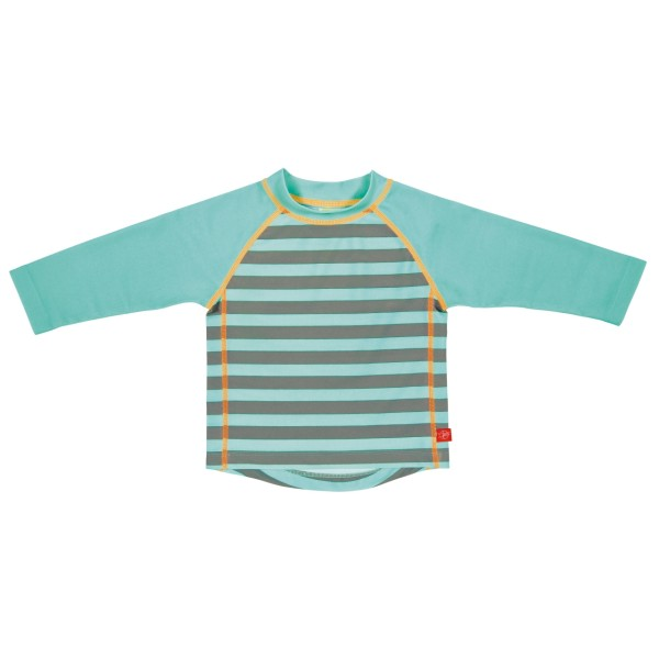 Langarm Bade-TShirt boys, 24 Monate, striped aqua