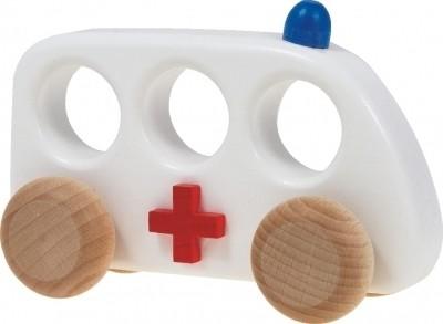 Holzauto Ambulanz