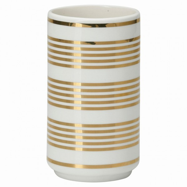 Vase Stripe Gold
