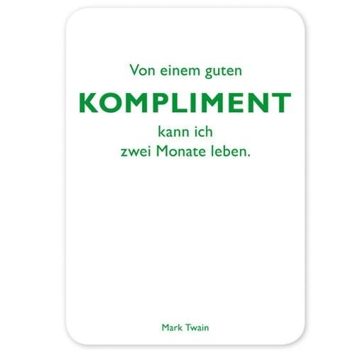 Postkarte Kompliment, Twain