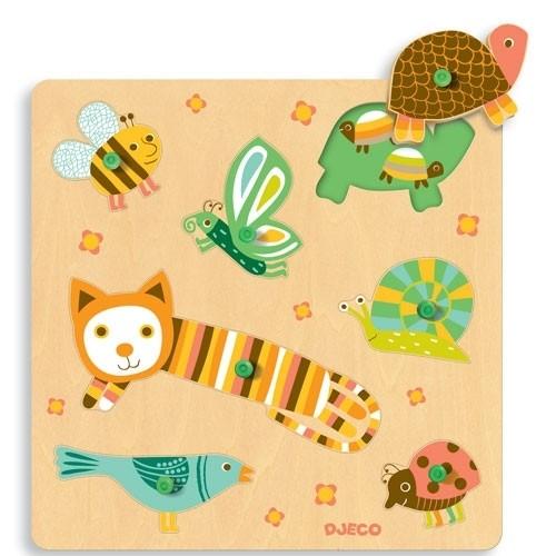 Steckpuzzle - Miau & cie