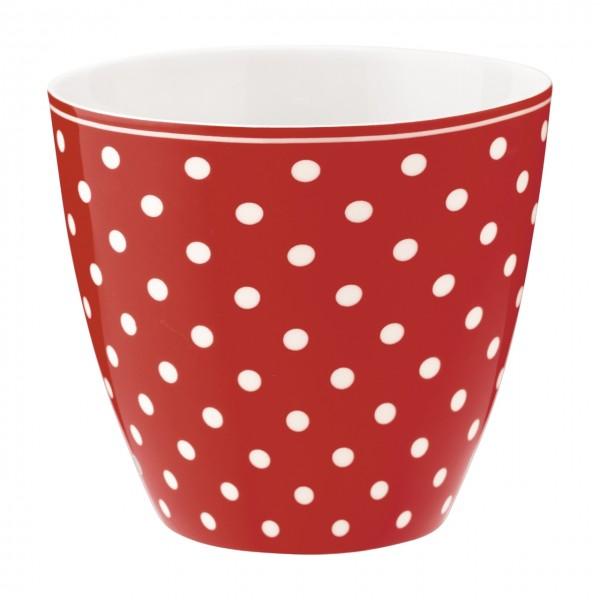 Latte Becher Spot red