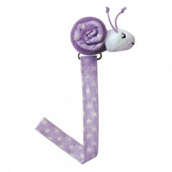 Sindibaba Schnullerkette Schnecke violett