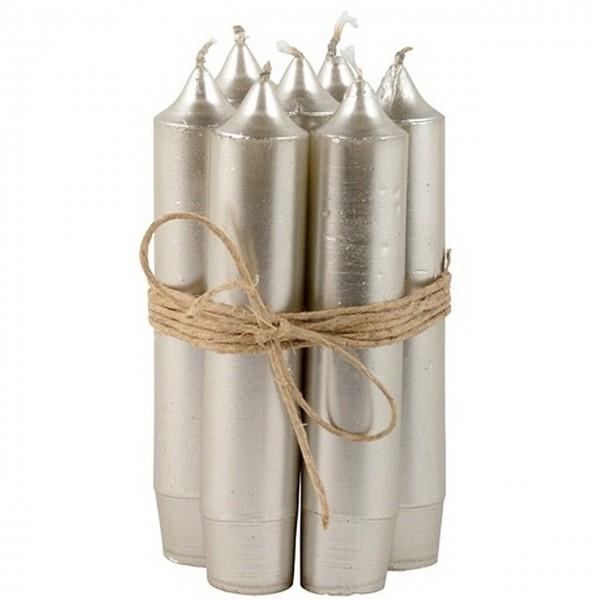 7 Stabkerzen Silber